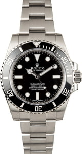 PreOwned Rolex Submariner 114060 Stainless Steel Oyster Band