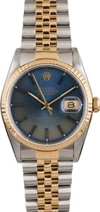 Pre Owned Rolex Datejust Blue Dial 16233