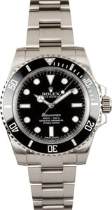 Rolex Submariner 114060 Black Ceramic Timing Bezel