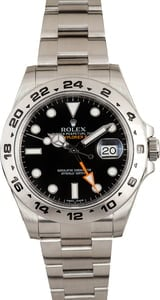 Used Rolex Explorer II Ref 216570 Steel Oyster Black Dial