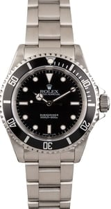 Pre Owned Rolex Submariner 14060 No Date Black Dial