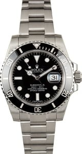 Used Rolex Submariner 116610 Black Cerachrom Bezel