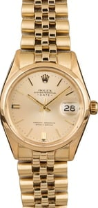 Used Rolex Date 1501 Yellow Gold Smooth Bezel