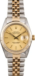 Pre Owned Rolex Datejust Champagne Index Dial 16013