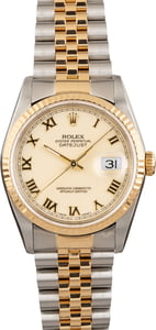 Used Rolex Datejust 16233 Ivory Roman Dial