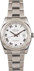 Used Rolex Datejust 116234 White Roman Dial