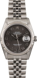 Pre-Owned Rolex Datejust 16234 Black Jubilee Dial T