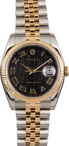 Pre-Owned Rolex Datejust 116233 Black Jubilee Roman Dial