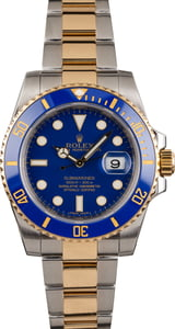 Pre Owned Rolex Submariner Two Tone 116613 Blue Dial