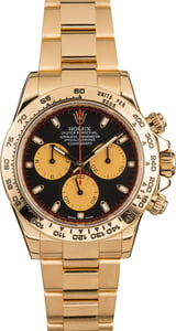 Pre-Owned Rolex Daytona 18K Yellow Gold 116508 Black Dial T