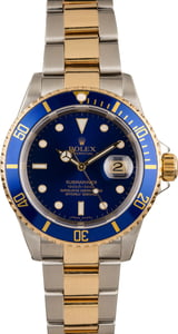 16613 Rolex Two-Tone Submariner Blue