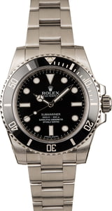 155e665e880 Used Rolex Submariner No Date 114060 Stainless Steel Oyster Band
