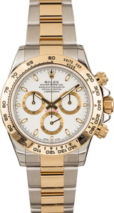 Pre-Owned Rolex Daytona Two Tone Cosmograph 116503 White Luminous Dial