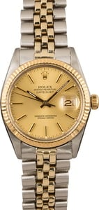 Pre-Owned Rolex Datejust 16013 Two Tone Oval Link