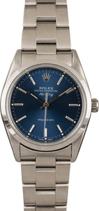 Pre-Owned Rolex Air King 14000 Blue Index Dial