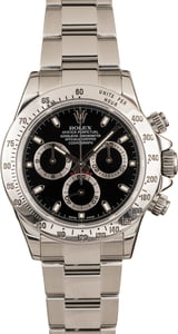 Pre Owned Rolex Daytona Steel 116520 Black Luminous Dial