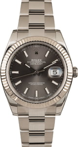 Rolex Datejust 41 Rhodium Dial