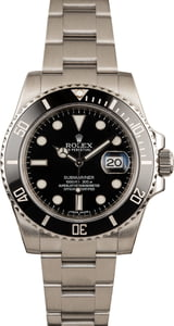 Rolex Steel Submariner 116610 Black Luminous Dial