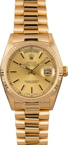 Pre-Owned Rolex Day-Date 18038 President 18K