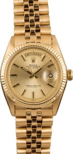 Pre-Owned Rolex Day Date 1803 Champagne 'Pie Pan' Dial