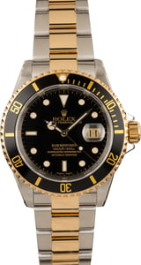 Pre-Owned Rolex Submariner 16613 Luminous Black Dial