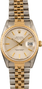 Men's Rolex Oyster Perpetual Date Stainless Steel & Gold 15223
