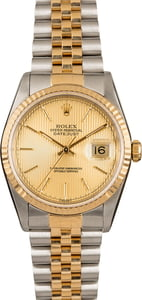 Pre-Owned Rolex Datejust 16233 Champagne Tapestry