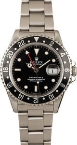 Pre-Owned Rolex GMT-Master II Ref 16710 Black Dial