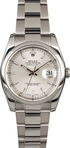 Pre-Owned Rolex Datejust 116200 Silver Dial
