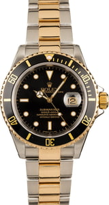 Rolex Submariner Two Tone Black 16613