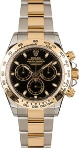 Rolex Daytona Two Tone Black Diamond Dial