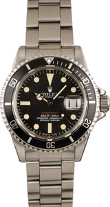 Vintage 1972 Rolex Red Submariner 1680 Watch