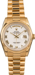 Used Rolex President 118238 White Dial