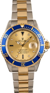 Pre-Owned 40MM Rolex Submariner 16613 Serti Dial