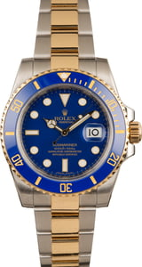 Pre-Owned Rolex Submariner 116613 Matte Blue Dial