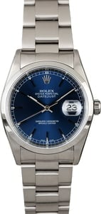 Used Rolex Steel Datejust 16200 Index Markers
