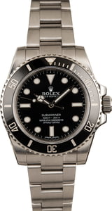 Used Rolex Submariner 114060 Black Dial