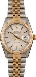 Pre Owned Rolex Datejust 16233 Two Tone Mens Watch