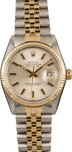 PreOwned Mens Rolex Datejust 16013 Silver Dial