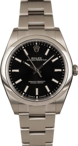 Mens Rolex Oyster Perpetual 114300 Black Dial