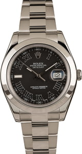 Used Rolex Datejust II 116300 Matte Black Dial