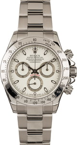 Rolex Daytona Stainless Steel White Face