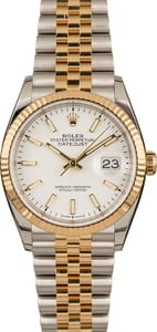 Pre-Owned Rolex Datejust 126233 White Luminous Dial