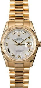 Rolex President 118238 Mother Of Pearl Dial