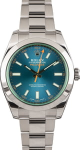 Rolex Milgauss 116400GV Blue Dial Pre-Owned Men's Watch