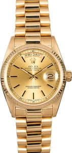 Pre-Owned Rolex Champagne President 18038 Index Dial