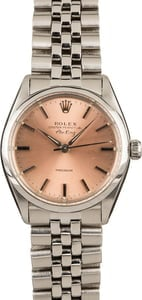 Pre-Owned Rolex Air-King 5500 Rose Dial
