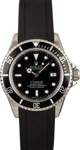 Pre-Owned Rolex Sea-Dweller 16600 Rubber Strap