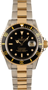 Pre-Owned Rolex 40MM Submariner 16803 Two-Tone