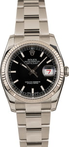 Rolex Datejust 116234 Black Luminous Dial